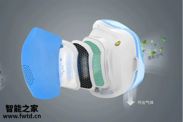 淘宝众筹上架智能口罩:N95同效滤网 电动送风
